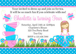 birthday tea party invitations cimvitation
