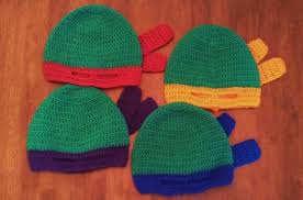 butterfly u0027s creations masked beanies ninja turtles