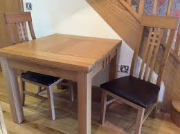 90 Dining Table Dining Table Four Chairs Solid Oak Hardly Used 90 Cm