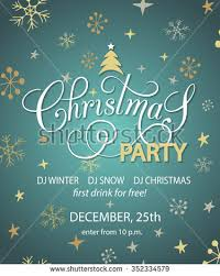 christmas party invitation poster flyer brochure stock vector