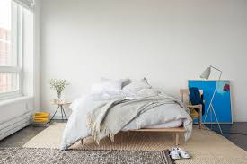 Nomad Bed Frame Modern Guest Bedroom With Concrete Floors By Casper Sleep Inc