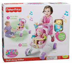 fisher price brilliant basics stroller styled walker toys