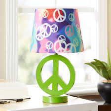 modern interior design take me home tonight lamp idolza your zone green peace sign table lamp with rainbow shade about this item interior decoration home