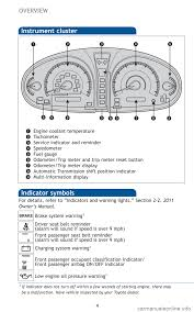 toyota avalon 2011 xx30 3 g quick reference guide