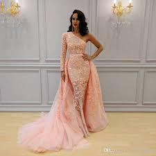 sparkly overskirt mermaid formal dresses evening wear one shoulder