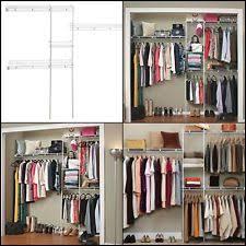 Closetmaid White Closetmaid White Economy 5 To 8 Foot Shelf Rod Closet Organizer