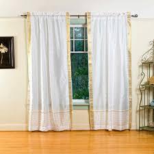 photos pair white india sari sheer curtain drape panel 84