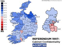 Corruption Map Irish Political Maps Referendum 1997 Cabinet Confidentiality