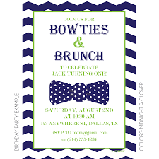 brunch invitation wording ideas bowties and brunch invitation kateogroup