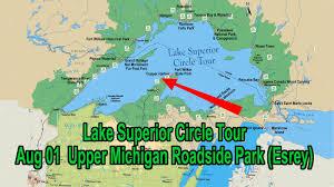 Upper Michigan Map Upper Michigan U0027s Most Scenic Roadside Stop Esrey Youtube