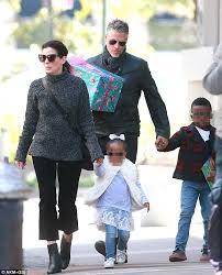 sandra bullock son sandra bullock and beau bryan randall take her kids to a birthday