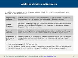 Hobbies And Interests On Resume Examples by Mckinsey Resume Sample