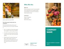 brochure template on word pediatrician child care brochure
