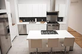 majestic kitchen island with stove and seating also white laminate