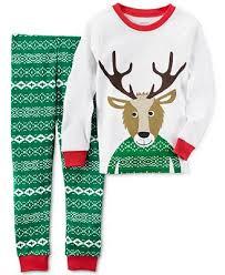sweater pajamas s boys or boys 2 pc fair isle reindeer pajama set
