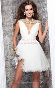 turmec short v neck cocktail dresses