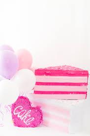 diy giant sprinkled birthday cake slice pinata best friends for