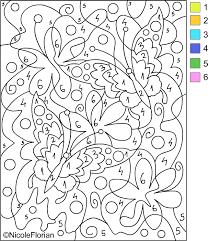 free color by number worksheets worksheets