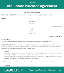 How To Do Bill Of Sale For Car by Real Estate Purchase Agreement Free Real Estate Contract Us