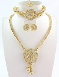 new gold set free shipping new design gold color charming fashion