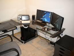 Dual Monitor Computer Desks Home Decor Amusing Dual Monitor Computer Desk With Desks Desk
