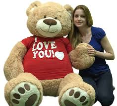 big bears for valentines day i you 5 foot teddy soft 60 inch wears