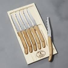 Laguiole Kitchen Knives Laguiole Oak Steak Knives Set Of 6 In Steak Knives Reviews