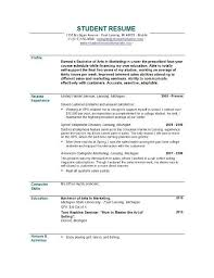 Sample Of Objective In Resume by Best 25 Student Resume Template Ideas On Pinterest High