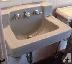 vintage wall hung sink vintage wall mount sink 1950s american standard with faucet
