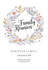 free family reunion invitation templates greetings island