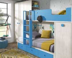 chambre garçon lit superposé chambre pour enfant avec lit superposé armoire et bureau meubles ros