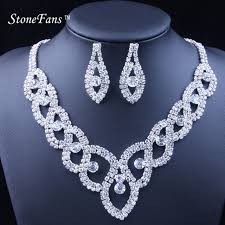 new trendy necklace images Stonefans women luxury wedding prom bridal crystal rhinestone jpg