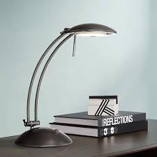 swoop arch design dark bronze halogen desk lamp 18050 lamps plus
