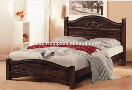 Wooden Hand Carved Mahogany Bed Classic Design Wooden BedEuropean - Wood bedroom design