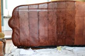 Painting A Leather Sofa Marvelous Design How To Paint Leather Furniture Sensational Change