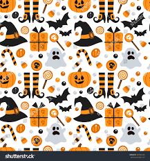 vector seamless pattern halloween pumpkin ghost stock vector