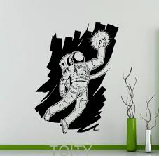 Decoration Star Wall Decals Home by Space Astronaut Cosmonaut Star Wall Sticker Nursery Vinyl Decal
