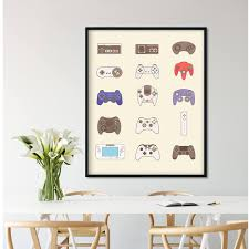 video game controller video game poster video game decor
