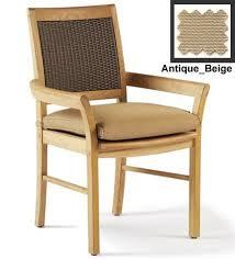 Patio Chair Fabric Wholesale Teak Sunbrella Fabric Outdoor Dining Chair Cushion