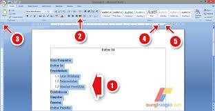cara membuat garis pada daftar isi makalah cara membuat daftar isi titik titik otomatis di microsoft word