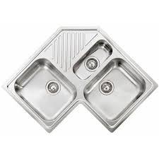 bac cuisine inox évier d angle à encastrer elleci avara 1 bac 1 2 1 égouttoir
