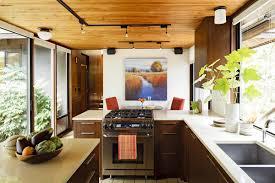 mid century modern kitchen table vintage island wooden cabinet
