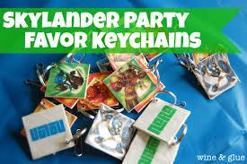 Skylander Favors by Skylander Favor Keychains Tutorial Wine Glue