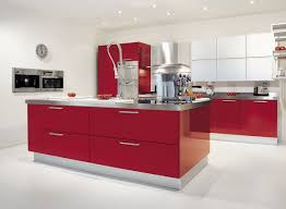 kitchen beautiful red kitchen design images with stainless steel