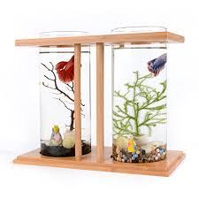 Betta Fish Vase With Bamboo Amazon Com Segarty Cool Design Desktop Glass Fish Tank Small