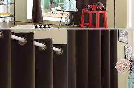 Solid Color Curtains Solid Color Thermal Insulated Blackout Curtains 8 Grommets Solid