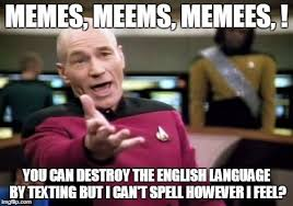 Meme English - memes meems memees you can destroy the english language by
