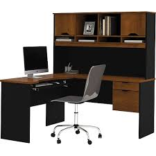 Staples Corner Computer Desk Bestar Innova Corner Computer Desk Tuscany Brown Black 92420