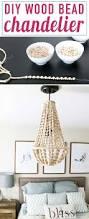 Making Chandeliers Diy Chandelier From Wood Beads Wood Bead Chandelier Diy