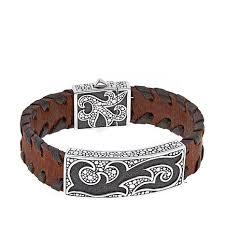 leather bracelet designs images Bali designs by robert manse quot bromanse quot men 39 s pebbled flame brown jpg